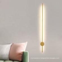 New products golden design indoor hotel bedside led  led wall light