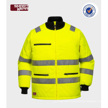 High quality workwear winter hi vis jacket with reflective tape