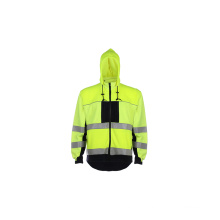 Class 3 Hi-VI Long-Sleeve Fleece Reflective Hoodie