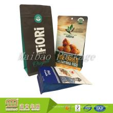 Bolsita inferior plana del Ziplock del papel de aluminio del paquete de la comida de la impresión de la marca de encargo al por mayor para el café / el bocado
