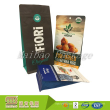 Wholesale Custom Own Brand Printing Food Package Aluminum Foil Ziplock Flat Bottom Pouch For Coffee/Snack