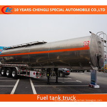 3 Axles Stainless Steel Fuel Tank Semi Trailer Alloy Fuel Tank Semi Trailer