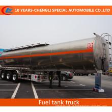 Tanque de combustível de aço inoxidável da liga do tanque de combustível de 3 eixos semi Reboque Semi do depósito de gasolina