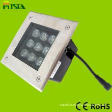 Lumière souterraine de haute qualité de la place 9W LED (ST-DM02-9W)