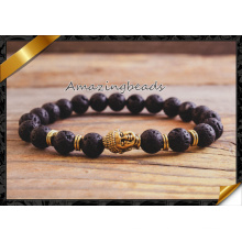 Men′s Beaded Bracelet, Semi Precious Stone Bead Lava Bracelet, Fashion Bracelet Jewelry Wholesale (CB045)