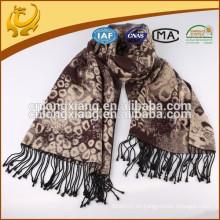 Nueva bufanda ocasional sin fin de la eternidad del círculo del punto de la manera, bufandas del infinito del leopardo del precio de fábrica
