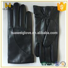 Men's black nappa leather winter gloves