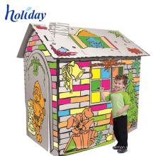 tiques publicitarios pequeños tren playhouse de cartón