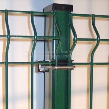Poste rectangular para panel de valla con clips