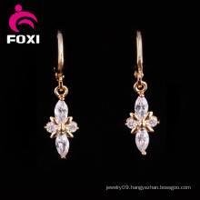 Factory Price18k Gold Gemstone Chandelier Earrings