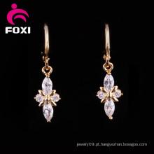 Brincos do candelabro de pedra preciosa do preço Price18k ouro