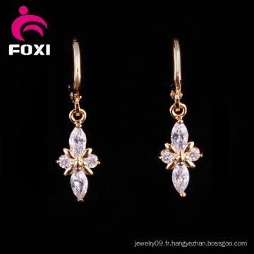 Boucles d'oreilles chandelier en or 18 carats