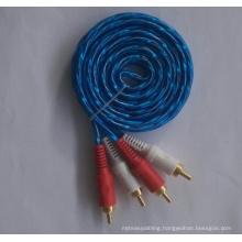 Transparent Jacket 2RCA Audio Cable