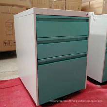 Armoire de bureau à usage professionnel 3 tiroirs caisson mobile en métal