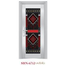 Puerta de acero inoxidable para exteriores (SBN-6712)