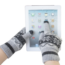 Herrenmode Winter Wolle gestrickte Touch Screen Magic Handschuhe (YKY5453)