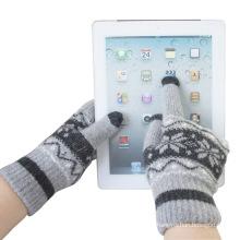 Зимняя Мужская мода шерсть трикотажные Сенсорный экран волшебные перчатки (YKY5453)