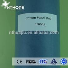 Rolos de algodão absorvente médicos de 1 kg