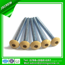 Carbon Steel M6 Round Truss Painted Head Wood Screw