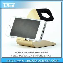 soporte del soporte de exhibición del soporte del cargador del muelle de metal de aluminio para los relojes