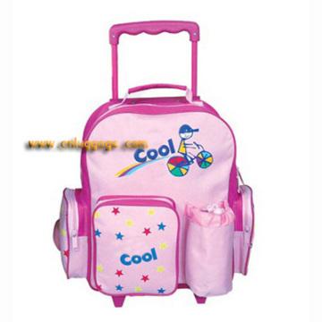 "14"" pink carrinho mochila"