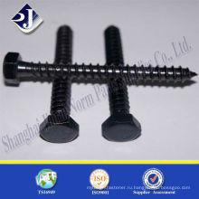 Черный с TS16949 ISO9001 DIN571 деревянный винт