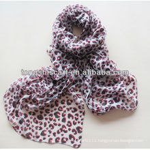 2015 newest polyester leopard custom scarf HD312