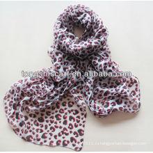 2015 новые леопарда полиэфира изготовленный на заказ шарф HD312
