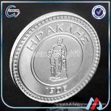 2016 feito sob encomenda logotipo gravado moedas de prata originais