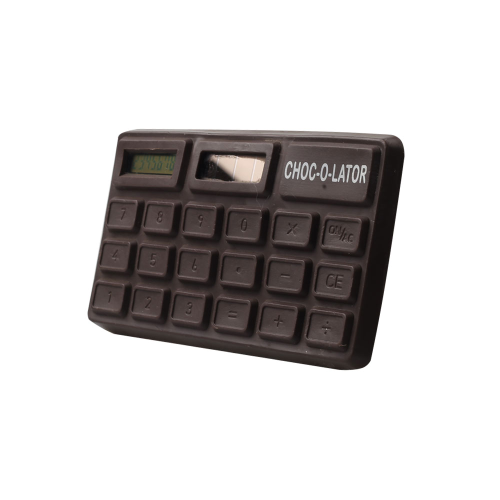 8 Digits Chocolate Shape Pocket Calculator with Scent