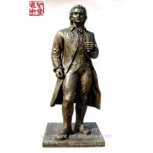 2016 Novo Bronze Figura Escultura Bronze Retrato Escultura Para Paisagem