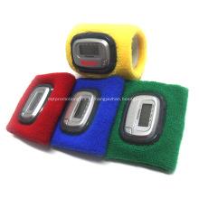Pedômetros tecidos personalizados do punho com logotipo impresso