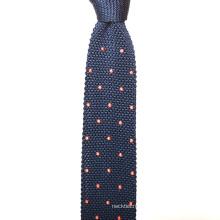 Cravates faites sur commande de tricot d'hommes de soie de points de broderie faits sur commande