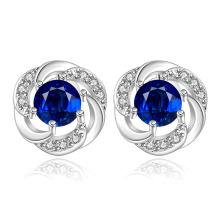 Blue Zicron Fashion Silver Plated Girls Jóias