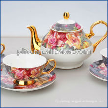 bone china tea set with elegant design