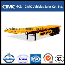 Cimc 3 Axles Flat Bed Container Semi Trailer