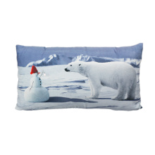 Polar bear and snowman cushion