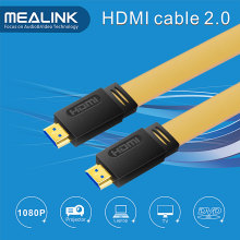 Support de câble plat HDMI 2.0V 4k @ 60Hz, 18gpbs