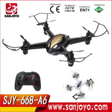 SJY-668-A6 2.4G 6CH Headless Mode mini rc drone With LED Lights And GYRO UFO Aircraft