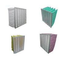 Green Pocket Bag F8 Air Filters Medium Efficiency , Multi Bag Filter