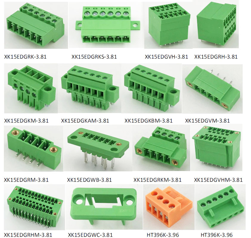 2pin male to female 3.81mm pluggable terminal block