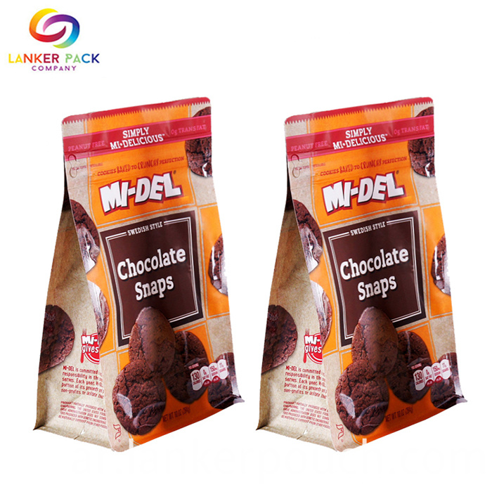 Custom Printed Mylar Flat Bottom Snack Packaging
