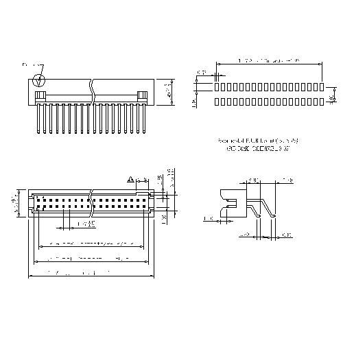 1.27mm Box Header Horizontal SMT H=5.40