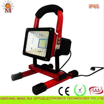 Lumière d'inondation rechargeable portative de la prudence 10W LED du CE avec du CE / RoHS