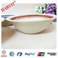 9inches Color Rim Edge Hand Painted Ceramic Salad Bowl
