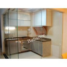 Gehärtetes gebogenes Badezimmer / Küche / Türglas mit Ce, 3c Zertifikat