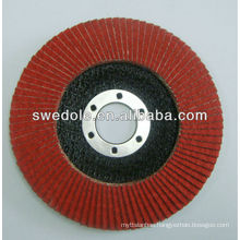 150mm red Fiberglass ceramic alumina oxide sanding discs for metal