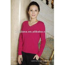 estilo de moda para las mujeres 100% suéter de cachemira
