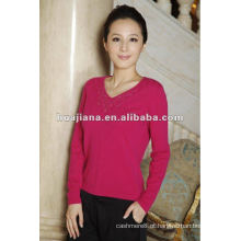Estilo da moda para mulheres 100% suéter de caxemira