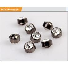Plástico ronda botón de caña de diamantes de imitación BA60134